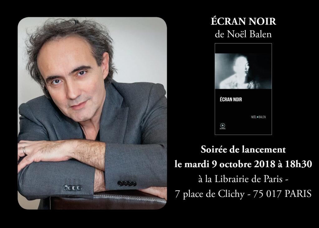 soirée noel 2018 paris Soirée de lancement Écran noir de Noël Balen | MAREST Éditeur soirée noel 2018 paris